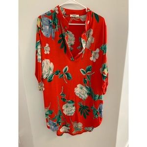 Never Worn tropical vibrant floral tunic